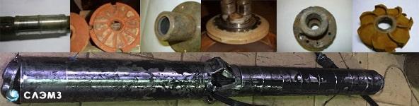 Детали и ремонт погружных насосов ЭЦВ